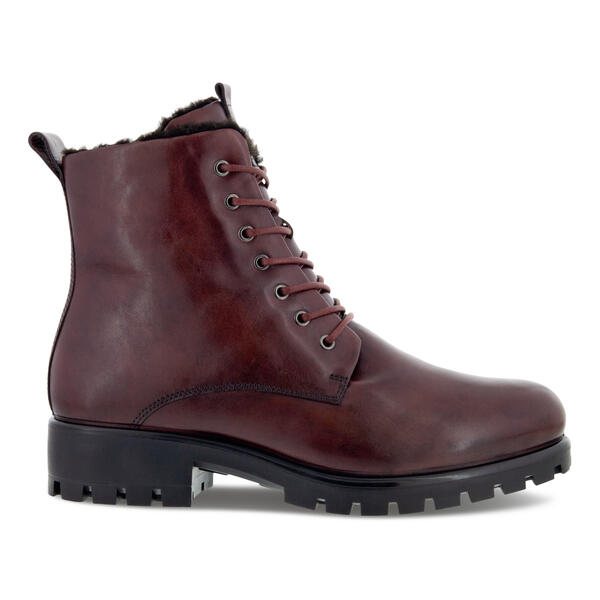 ECCO MODTRAY WOMEN'S LACE-UP SHEARLING-LINED MID-CUT BOOT